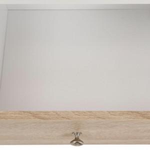 Comoda mare Ramon PAL/metal, maro/alb, 200x35x80 cm