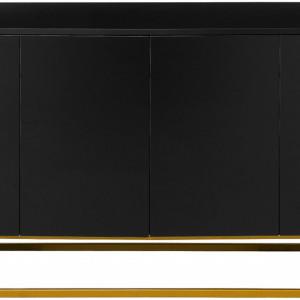 Comoda Sanford din lemn, negru, 160 x 83 cm