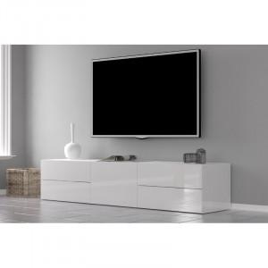Comoda TV Fischer, alb, 170 x 35,5 x 40 cm
