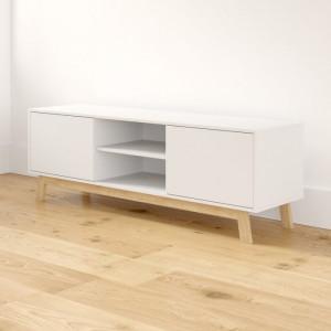 Comoda TV Flossie, maro/alba, 150 x 50 x 40 cm