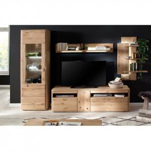 Comoda TV Forge, lemn masiv de stejar balcanic, 186 cm
