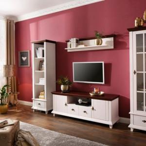 Comoda TV Home Affaire din lemn masiv de pin, alb