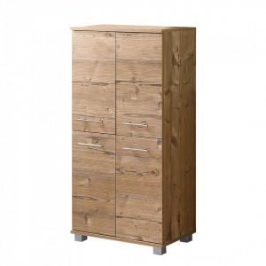 Comoda Welnezz PAL/otel inoxidabil/plastic, maro, 59,8 x 116,9 x 32,6 cm