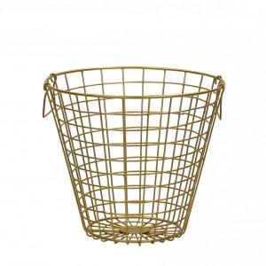 Cos NITMA, metalic, auriu, 32 x 32 x 28 cm
