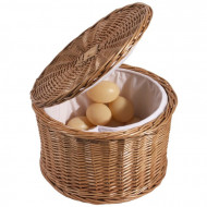 Cos pentru oua Tyrone, maro, 17 x 26 x 26 cm