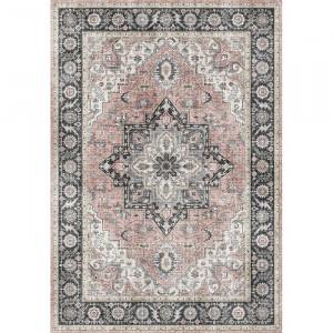 Covor Bourdeau, gri/roz, 200 x 290 cm