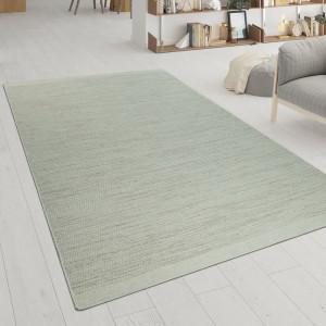 Covor fabricat manual, lana/bumbac, crem, 240 x 340 cm
