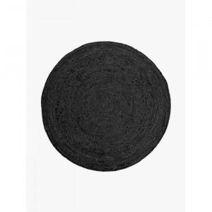 Covor Garofalo, tesut manual, negru, 150 x 150 cm