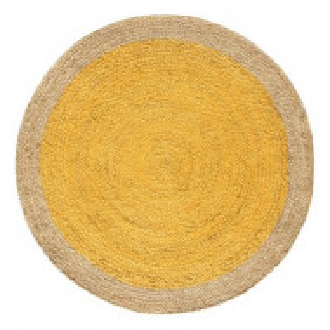 Covor împletit manual Erikson, natural/galben, 180 cm