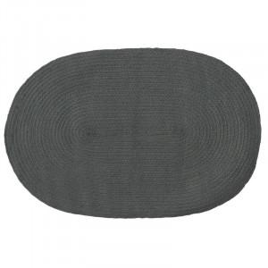 Covor Janiya țesut manual din bumbac, gri, 60 x 90 cm