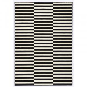 Covor Panel negru / crem, 160 x 230 cm