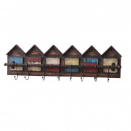 Cuier Row of Houses din lemn masiv, 83 x 26 cm