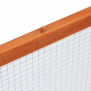 Cușcă din lemn masiv pentru iepuri sau animale mici, 48cm H x 100cm W x 181cm D