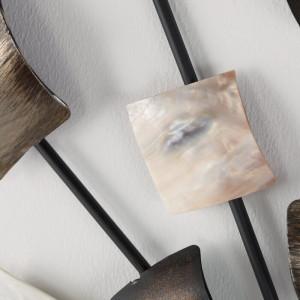 Decor de perete Ilie, maro/bej/crem, 68 x 68 cm