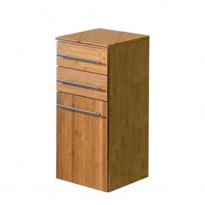 Dulap de baie Bern din lemn masiv de bambus/metal, maro, 72 x 32,5 x 35,5 cm