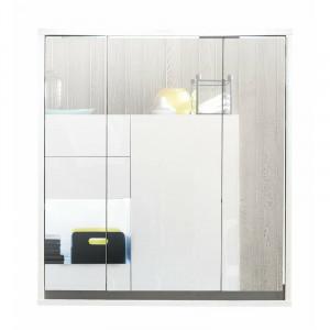 Dulap de baie cu oglinda Tollison, alb, 73 x 67 x 18 cm