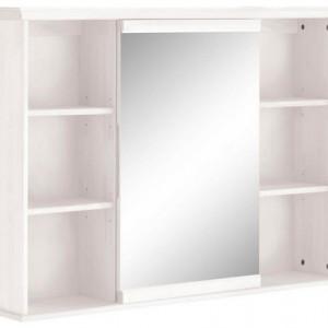 Dulap suspendat Westa by Home Affaire, cu oglinda, lemn masiv de pin, alb, 77 x 70 x 33 cm