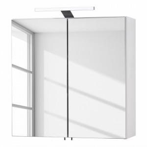 Dulăpior cu oglinda Gentry PAL și sistem iluminare, alb, 60 x 60 x 20 cm