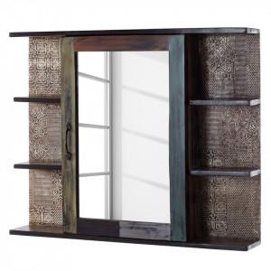 Dulapior cu oglinda GOA salcam, maro inchis, 88 x 72 x 15 cm