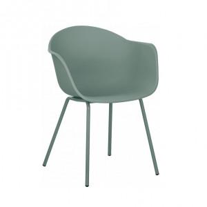 Fotoliu Claire, plastic/metal, verde, 48 x 41 x 46 cm