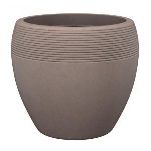 Ghiveci Lineo, plastic, maro, 24 x 28 x 28 cm