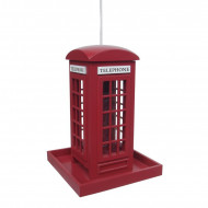 Hranitor pentru pasari in forma de cabina telefonica, 23 x 16 x 16 cm