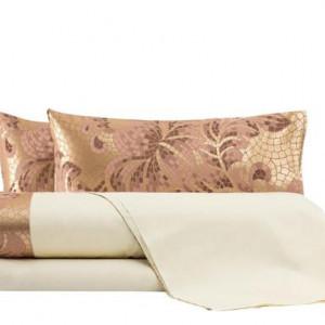 Lenjerie de pat in stil italian Mosaico rosa antico, matrimonial