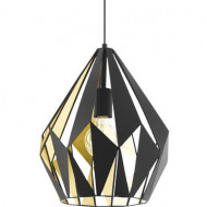 Lustra tip pendul Carlton, metal, neagra, 110 x 31 cm, 60w
