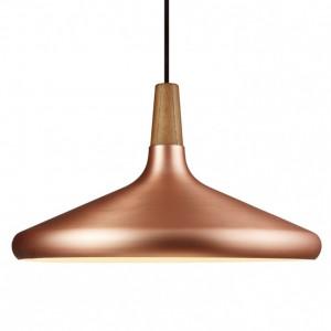 Lustra tip pendul Float 39 metal/lemn, cupru, 1 bec, diametru 39 cm, 220 V