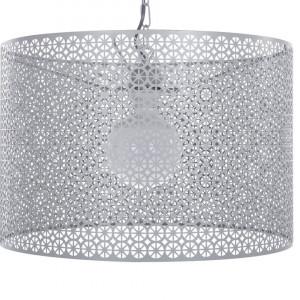 Lustra tip pendul MEZEN, metal/PVC, gri, 82 x 44 x 44 cm, 60w