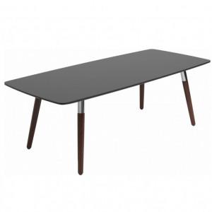 Masa de cafea Style, negru/maro, 137 x 60 x 47 cm