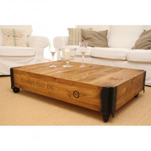 Masa de cafea Vesper din lemn masiv, 100 x 58 cm