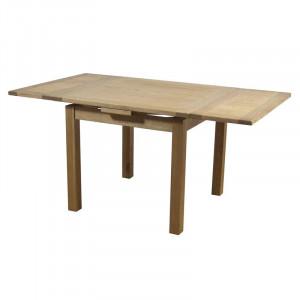 Masă extensibilă Ashly din lemn masiv de stejar, 90cm L x 90cm L x 76cm H