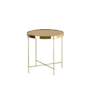 Masa laterala Lucea, auriu, 44 x 40 x 40 cm
