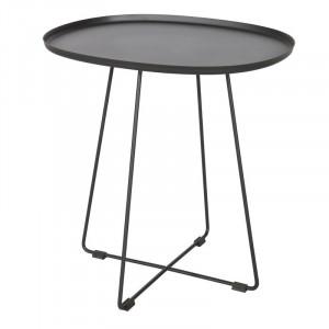 Masa laterala Rushton, metal, negru, 50 x 51 x 43 cm