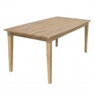 Masa Visalia, lemn masiv de salcam, maro, 180 x 75 x 90 cm