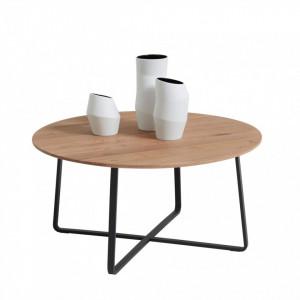 Masuta de cafea Yoris by Schöner Wohnen, lemn masiv/metal, 35 x 70 x 70 cm