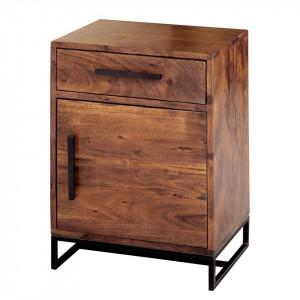Noptiera Woodson I, lemn masiv de salcam