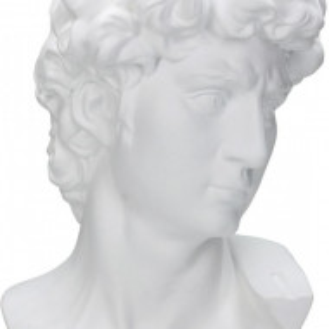 Obiect decorativ David, polyresin, alb, 21 x 29 x 18 cm