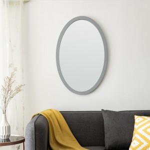 Oglinda Amika, MDF, gri, 60 x 40 x 1,5 cm