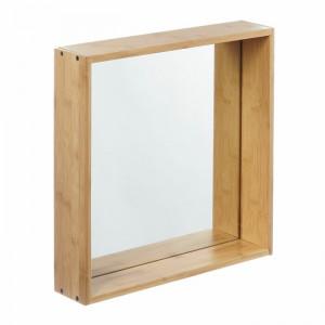 Oglinda de baie, maro, 40 x 40 x 9 cm