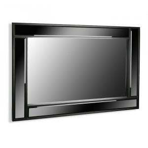 Oglinda de perete Aldrich, negru, 90 x 60 cm