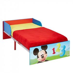 Pat pentru copii cu Mickey Mouse MDF/metal, 140 x 70 cm