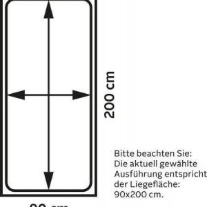 Pat suspendat Alpi, lemn masiv, alb, 90x200 cm