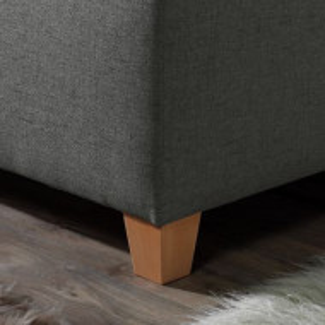 Pat tapitat Kolback textile/fag masiv, gri antracit, 100 x 200 cm
