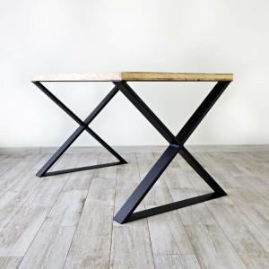 Picioare pentru masa Mitchum, negru, 71 x 8 x 80 cm