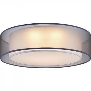 Plafoniera LED Chloe tesatura/fier, gri, 3 becuri, 230 V, diametru 50 cm