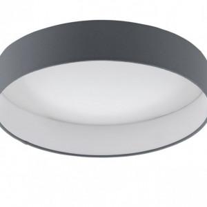 Plafoniera LED Palomaro tesatura / plastic, 1 bec, gri, diametru 32 cm