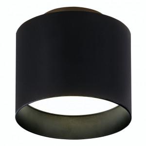 Plafoniera LED Trios aluminiu/sticla acrilica, 2 becuri, negru, diametru 10 cm, 240 V, 3200 K