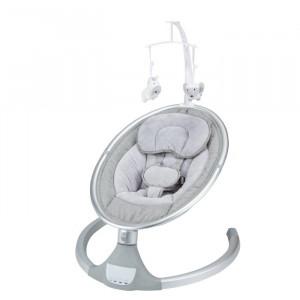 Scaun balansoar pentru bebelusi, metal, gri